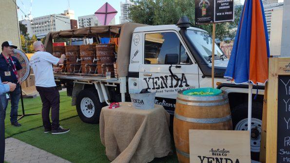 Yenda's take on a pop-up bar